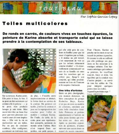 Exposition au restaurant Le spot, Guadeloupe, 2006